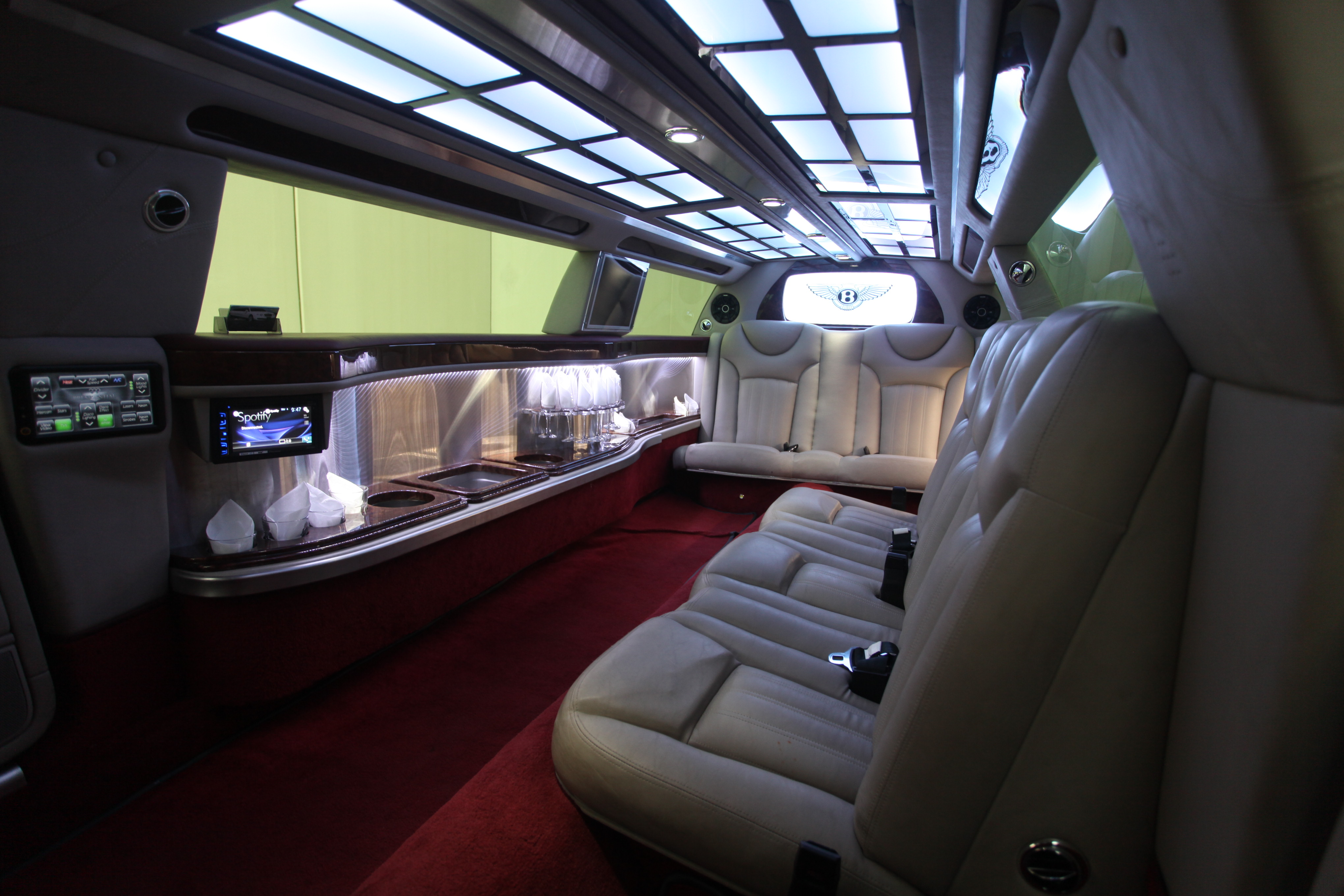 Bentley Limousine Day View Cool Interior Boss Limo Melbourne