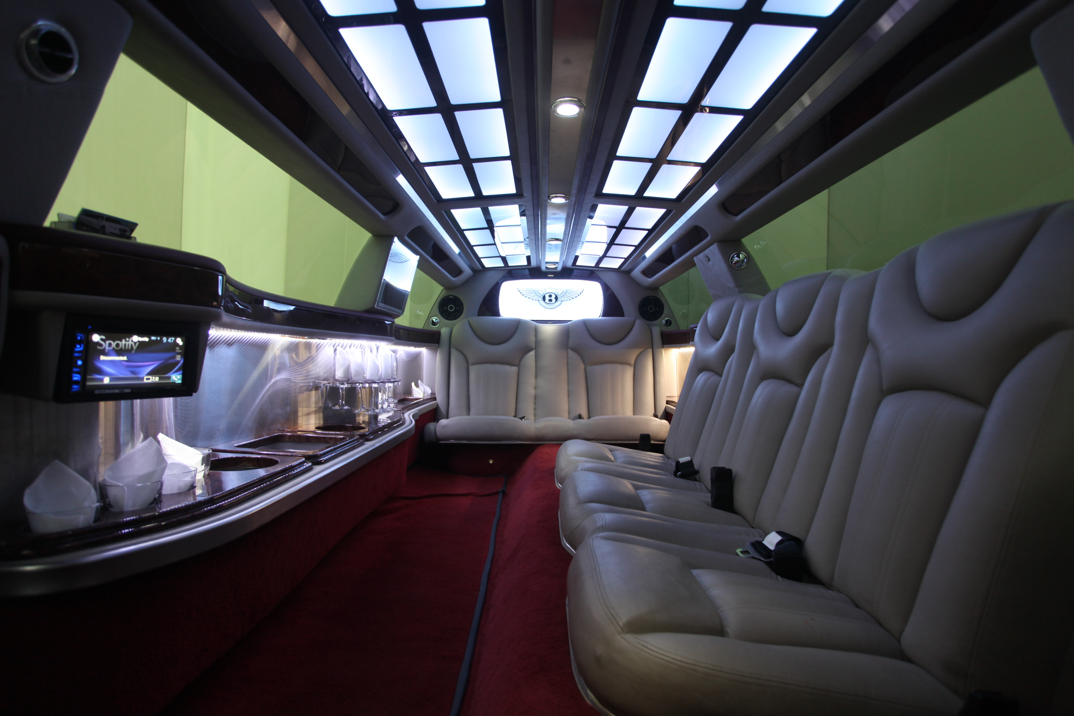 Bentley Limousine Day View Interior Boss Limo Melbourne