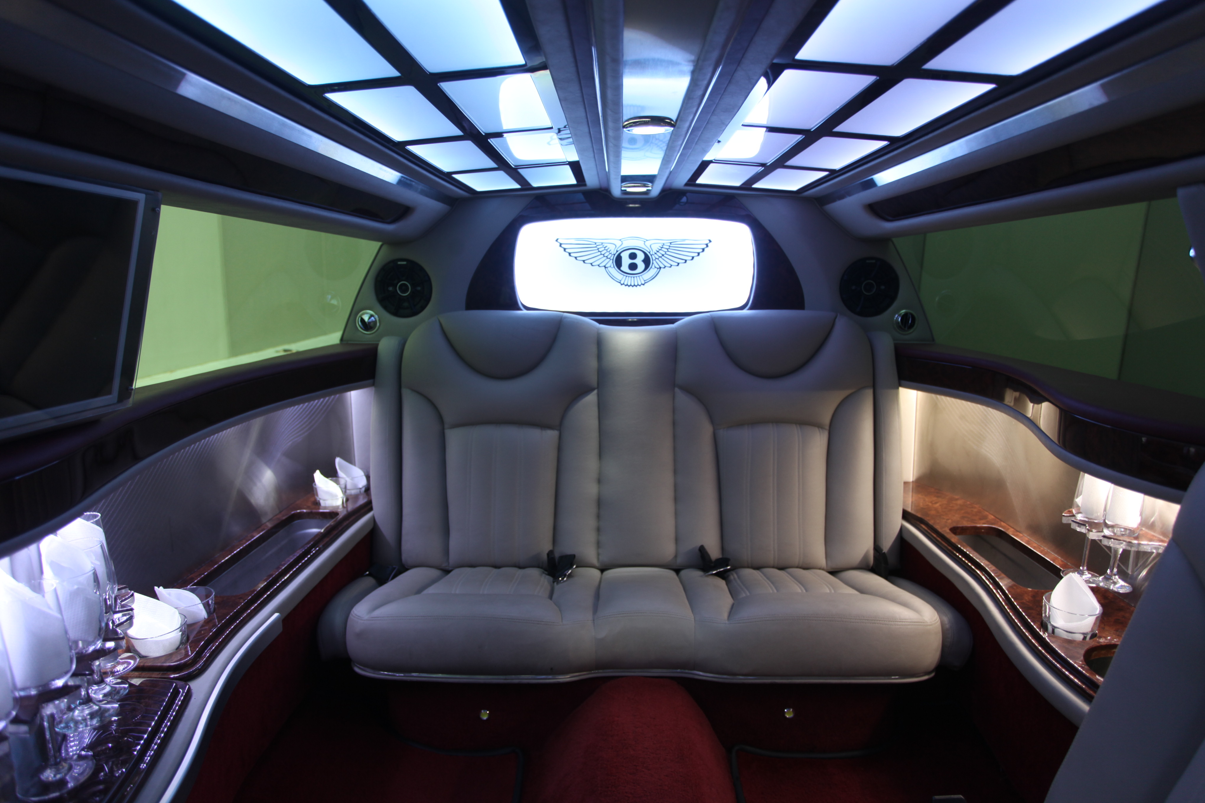 Bentley Limousine Day View Interior Seats Boss Limo Melbourne