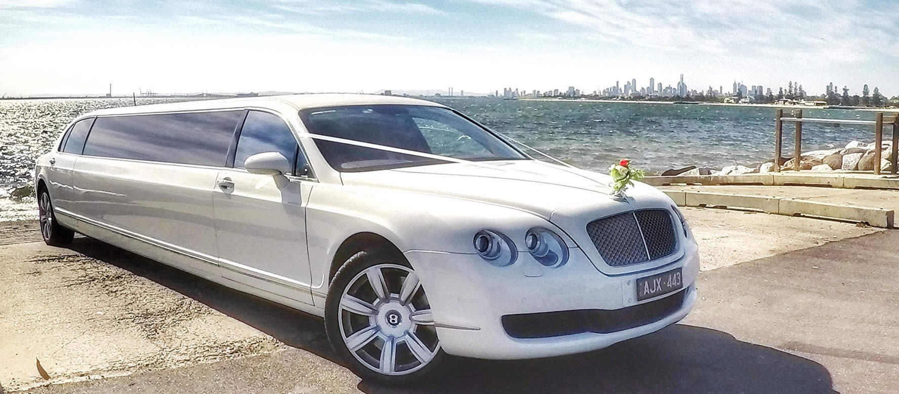 White Bentley Limo Hire Melbourne