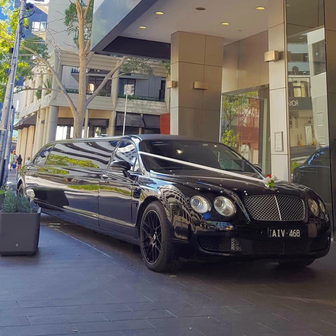 Black Bentley in City