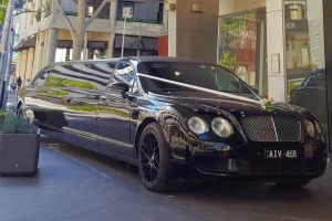 Black Bentley in City Small