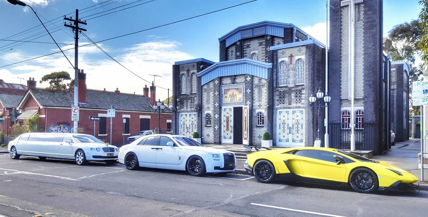 Luxury Car Wedding Line Up
